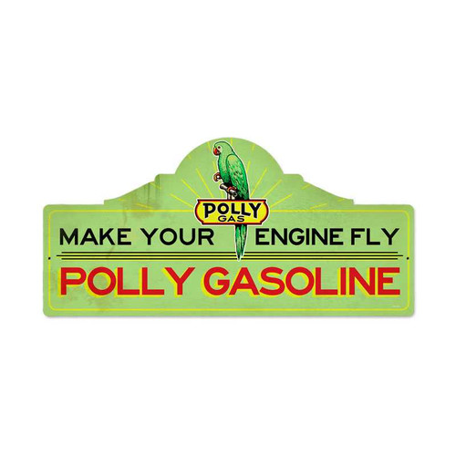 Retro Polly Gas Station Metal Sign  26 x 12 Inches