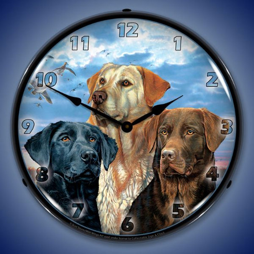 Labrador Retriever Lighted Wall Clock