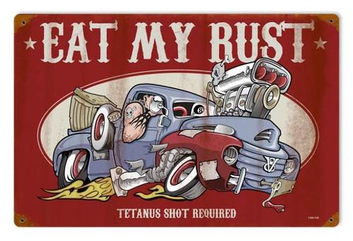 Vintage-Retro Eat My Rust Metal-Tin Sign