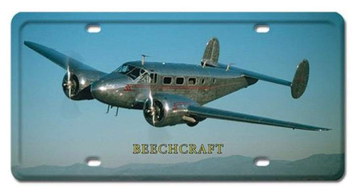Vintage-Retro BEECHCRAFT License Plate
