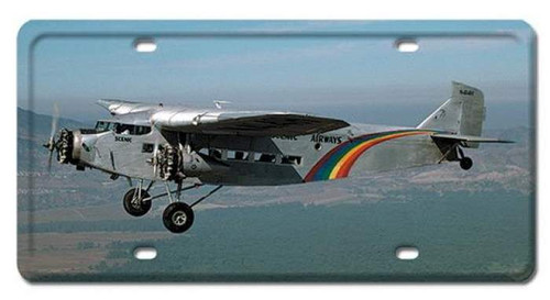 Vintage-Retro TRIMOTOR License Plate
