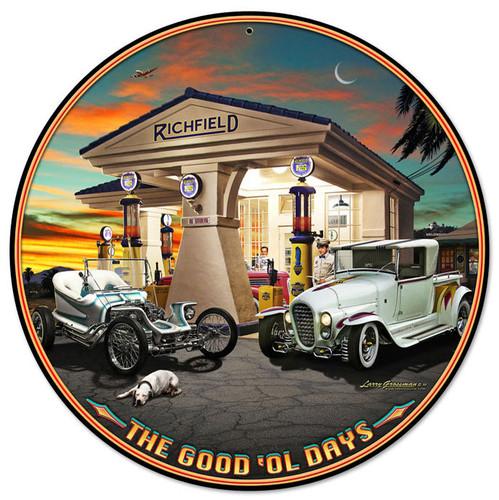 Outlaw and the Ala Cart Round Metal Sign 14 x 14 Inches