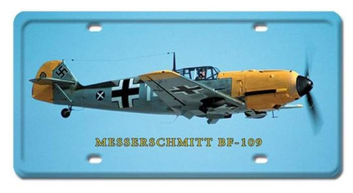 Vintage-Retro Messerschmitt BF-109 License Plate