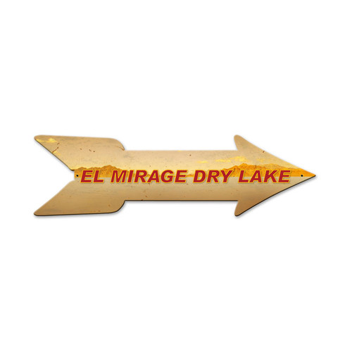 El Mirage Arrow  Custom Shape Metal Sign 27 x 8 Inches