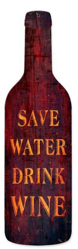 Save Water Custom Shape Metal Sign 8 x 26 Inches