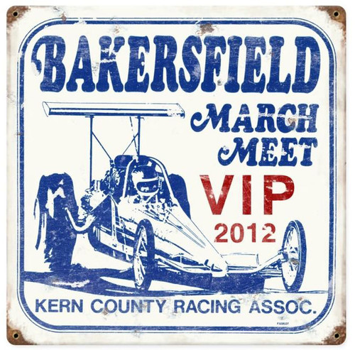 March Meet 2012 Vintage Metal Sign 12 x 18 Inches