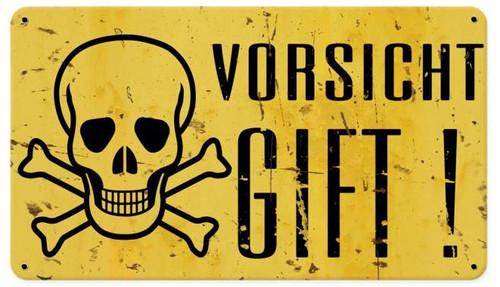 Vorsicht Gift  Retro Metal Sign 14 x 8 Inches