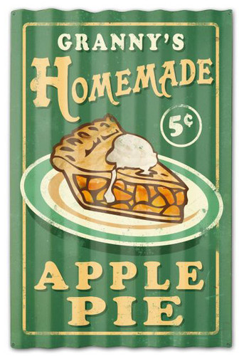 Home Made Pies Corrugated Rustic Barn  Sign 16 x 24 Inches