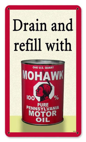 Vintage-Retro Mohawk Oil Metal-Tin Sign