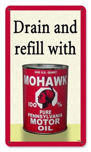 Vintage-Retro Mohawk Oil Metal-Tin Sign