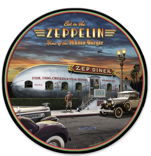 Eat In The Zep Round Metal Sign 28 x 28 Inches