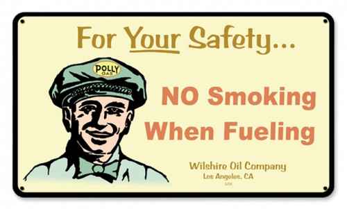 Vintage-Retro Polly Gas Attendant Metal-Tin Sign