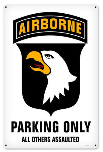 101st Airborne Parking Metal Sign 12 x 18 Inches
