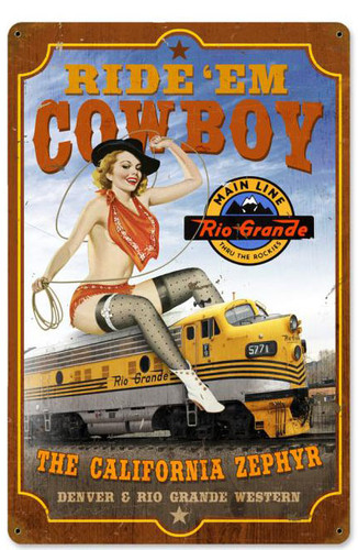 California Zephyr Metal Sign 12 x 18 Inches