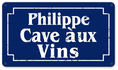 Cave Aux Vins Personalized Sign 14 x 8 Inches