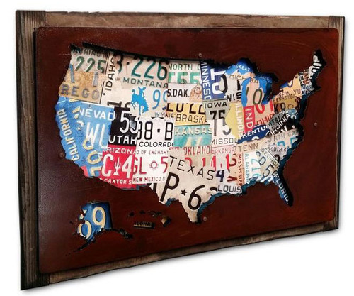 License Plate Cutout Custom Shape Metal Sign 24  x 16 Inches