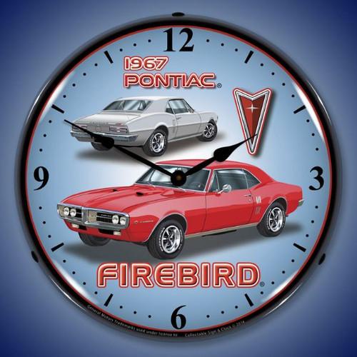 1967 Firebird Lighted Wall Clock 14 x 14 Inches