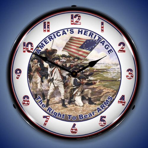 Americas Heritage Lighted Wall Clock 14 x 14 Inches