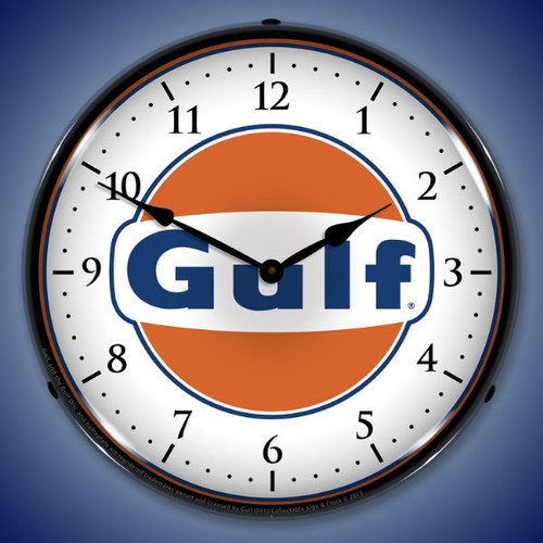 Gulf Lighted Wall Clock 14 x 14 Inches