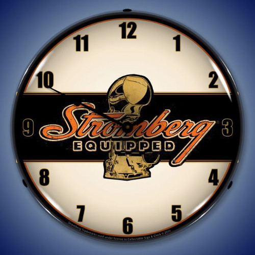 Stromberg Equipped Lighted Wall Clock 14 x 14 Inches
