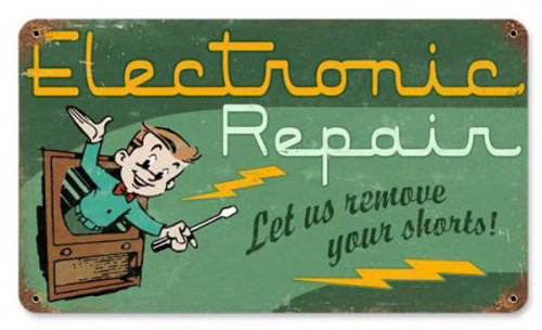 Electronic Repair Metal Sign 14 x 8 Inches