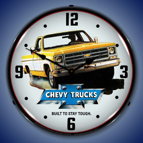 Lighted 1979 Chevrolet Truck Lighted Wall Clock 14 x 14 Inches