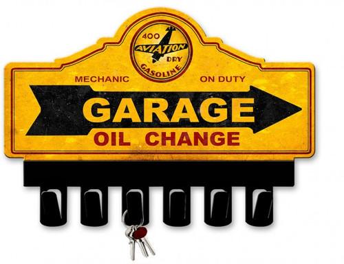 400 Aviation Dry Gasoline Metal Key Hanger 14 x 10 Inches