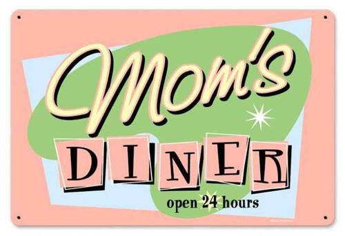 Vintage-Retro Moms Diner Metal-Tin Sign 1
