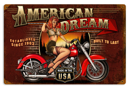 American Dream Metal Sign 18 x 12 Inches