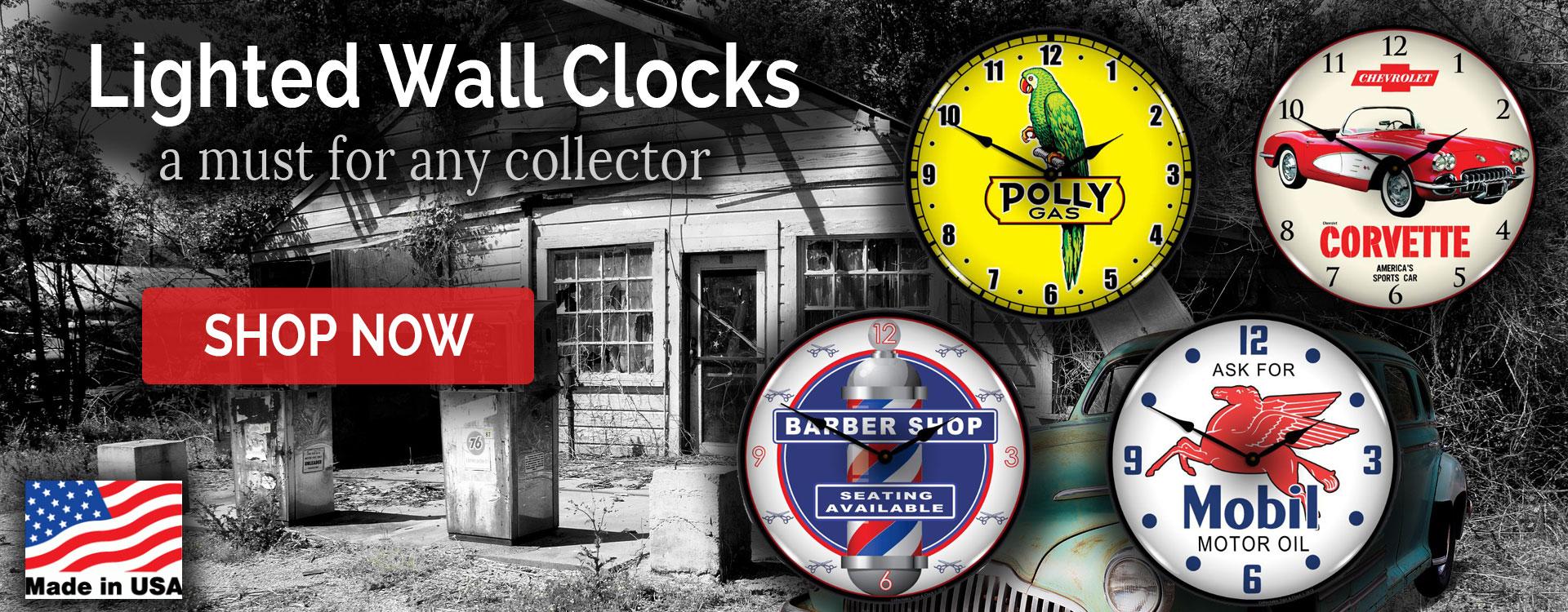 lighted wall clocks