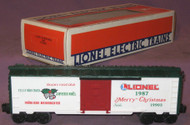 19903 Christmas Box Car: 1987 (9/OB)