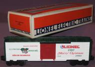 19903 Christmas Box Car: 1987 (10/OB)