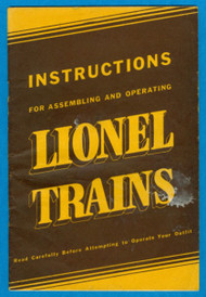 1939 Instructions For Assembling and Operating Lionel Trains (7+)
