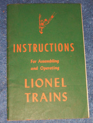 1946 Instructions For Assembling and Operating Lionel Trains (7+)