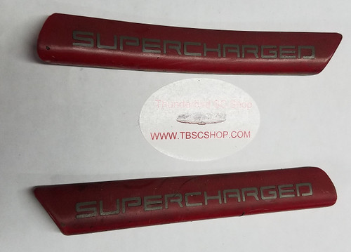 Exterior Fender Molding - XR7 - Supercharged - Red - Set - 1989 - 1993