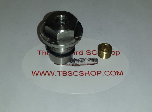 Cross Over Tube Plug - with 1/8 NPT Port - Stainless Steel - 4.6L DOHC