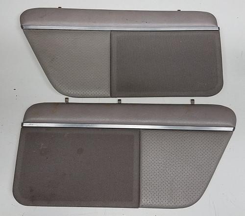 Rear Speaker Cover - Gray Leather - Set - 1989 - 1993 - Grade C - SKU 101275