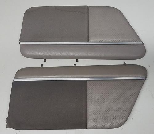 Rear Speaker Cover - Gray Leather - Set - 1989 - 1993 - Grade C - SKU 101417
