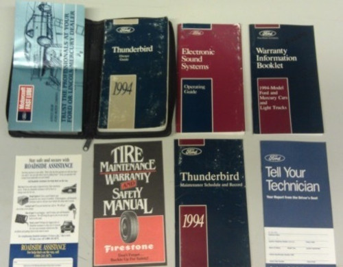 1994 Thunderbird  Owners Manual Collection
