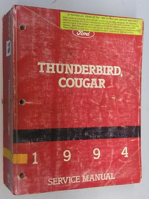 1994 Thunderbird / Cougar OEM Car Shop Manual - FPS-12196-94