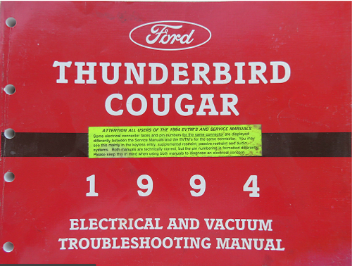 1994 Thunderbird / Cougar Electrical & Vacuum Manual - FPS-12116-94