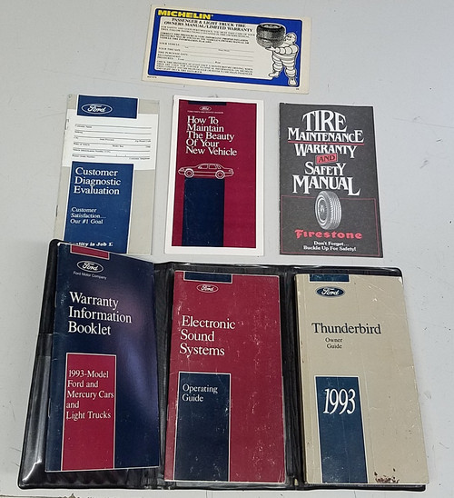 1993  Thunderbird Owners Manual Collection