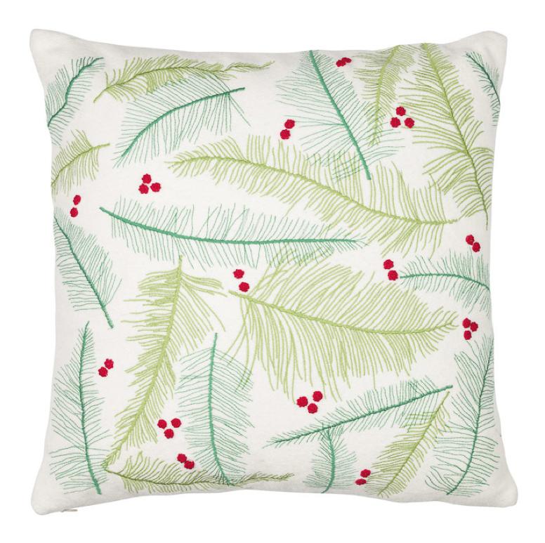 Leaves and Berries Pillow Cover