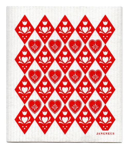 Jangneus Swedish dishcloth, Red Jul, 100% biodegradable