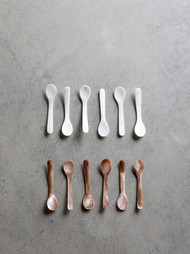 Mother of Pearl Teaspoon Set  of 6 - White
