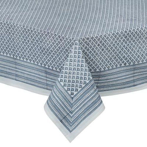 Tablecloth - Meena - Dusty Blue from Bungalow in Denmark