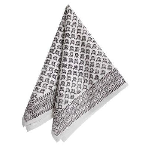 "Napkin - Meena - Grey - 18""SQ from Bungalow in Denmark"