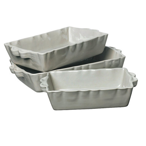 French Baking Dish - Light Grey - Large from Côté Table in France