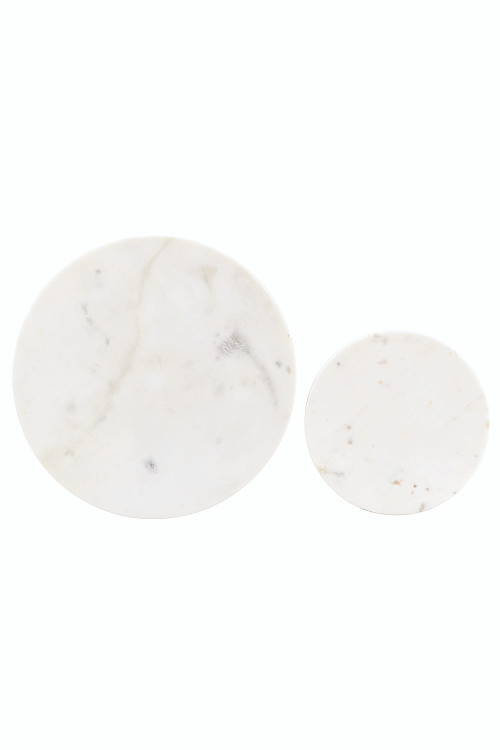 House Doctor - Set of 2 round marble board