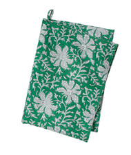 Colorful Contemporary Kitchen Towel - Lakhsmi - Green - Cotton